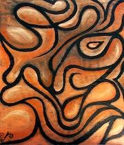 Bouffon orange. Naki A. Larouche
