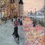 Le marché aux fleurs. Cath