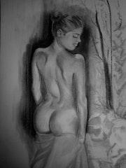 La fille au drap rose.