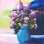 «Bouquet de Lilas» Huile au couteau sur toile de lin. Nad'ev