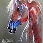 Le cheval bleu. Arlette Cotella