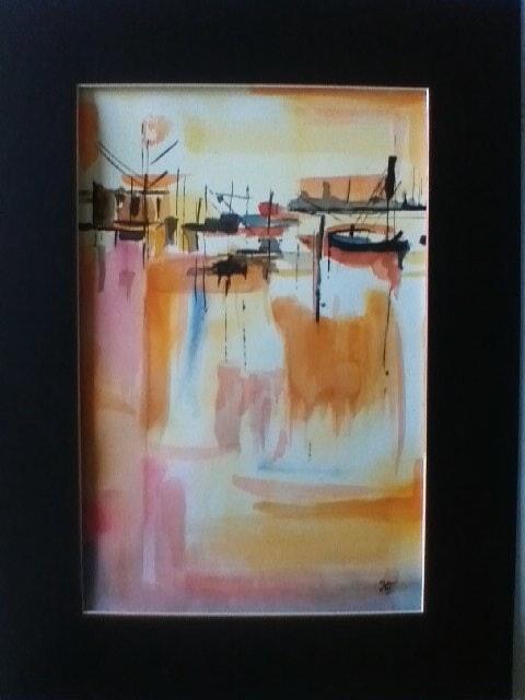 Crépuscule maritime.  Karine Foucaud