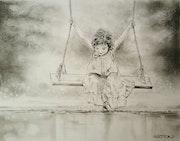 La fillette à la balançoire. Artyon