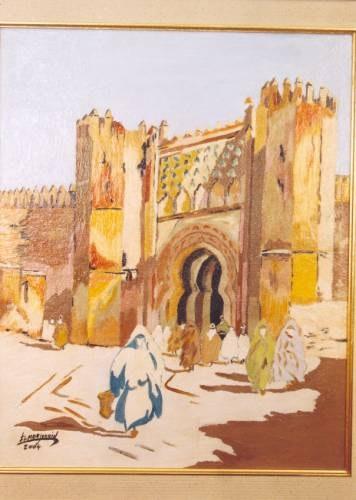 Porte de Chella à Rabat. Elmoujaouid Abderrahim El Moujaouid