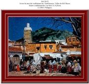 Scène du marché traditionnel de Chefchaouen. Vallée du Rif. Maroc. Philippus