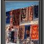Boutique aux souvenirs et aux tapis tendus. Marrakech. Maroc. Philippus