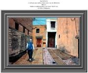 L'artisan aux nattes dans une rue de Meknès. Maroc. Philippus