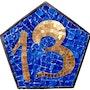 Hausnummer Edelglas 13. Atelier De Mosaïque d'art Urschel l'artisan