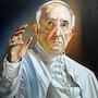 Retrato papa francisco. Marcor