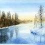 Rivière en hiver. Guy Jay