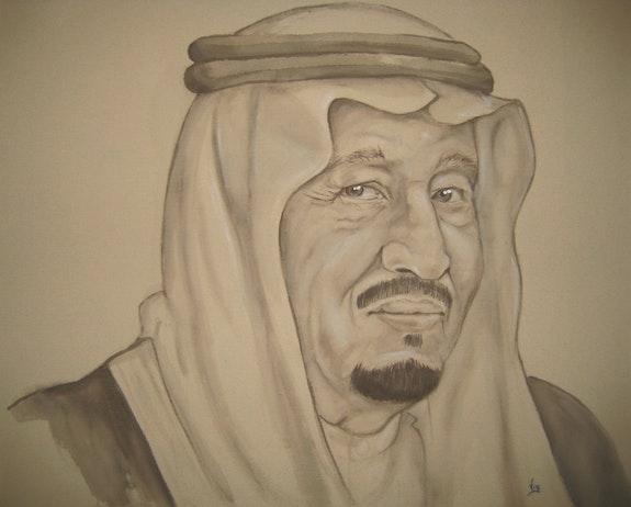 The king of Saoudi Arabia Salmane ben Abdelaziz Al Saoud. Vig Vig