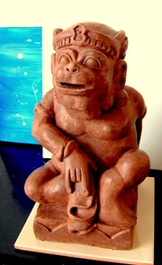 Java sculpture indonesienne.