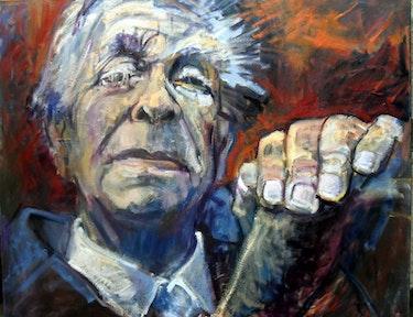 Retrato de Jorge Luis Borges. Beti Alonso