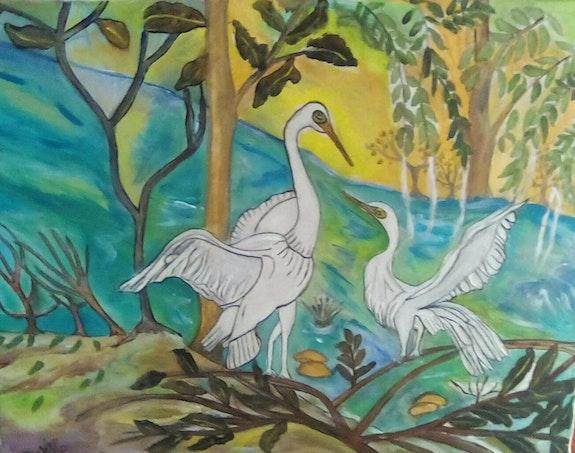 Les oiseaux d'oleron dans leur ile. Castillo Annie Anna