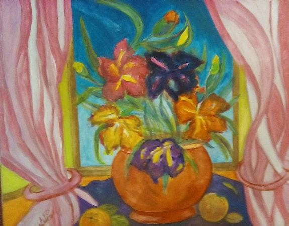 Bouquet d'iris. Castillo Annie Anna