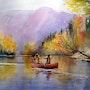 Boating in Quebec. Les Ducak