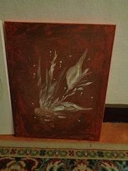 Herbst mit Wachs gemalt. Monika Lucke