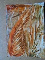 Orange Blätter. Monika Lucke