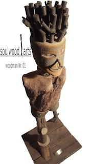 Woodman Nr. 01 Holzskulptur Kunst Holz Wertanlage Unikat Mann Deko. Soulwood Arts