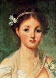 La cruche cassée (détail du portrait). Sandrine Chastel