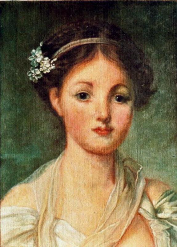La cruche cassée (détail du portrait). Sandrine Chastel Sandrine Chastel