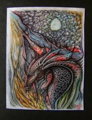 Dragon en cueva.
