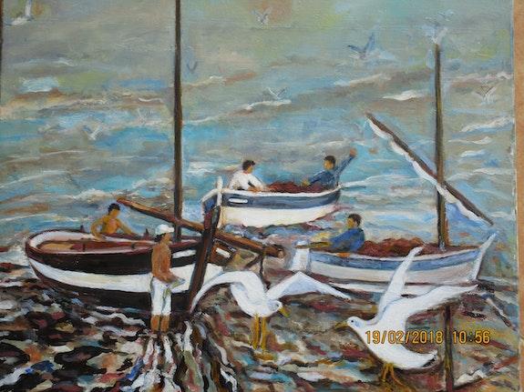 Pointus dans la lagune un jour de largade.  Jacques Blasco