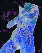 Ange bleu.