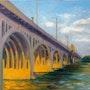 Hanover Street Bridge at Sunset. Arts d'tryon Studio