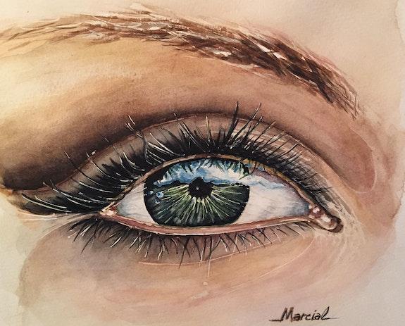 Acuarela: Ojo Observador. Marcial Aparicio Marcial Aparicio