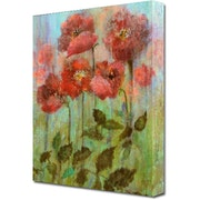 Poppies In Pastel 16x20 Inch Portrait Style Canvas Print. Joy Of Life Art