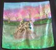 Foulard «arbre aux lutins». Sylvine