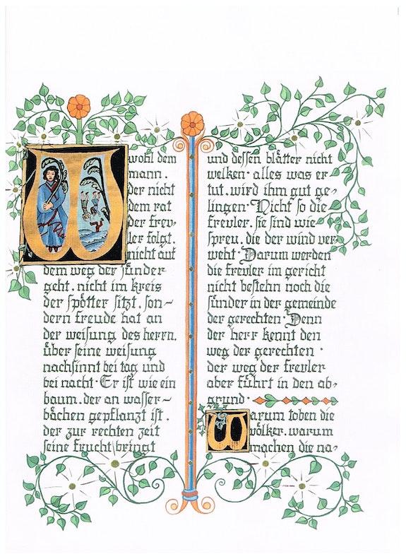 Die Psalmen - Handarbeit in dekorativer Buchform, unterschiedliche Ausführung. Ulrike Vetter Ulvera