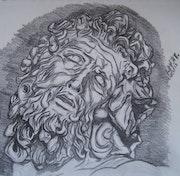 Sketch Laocoonte. Olivia Barrón