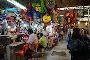 Puesto del mercado de xochimilco.