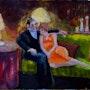 Couple Snuggle on Sofa. Gary J. Kirkpatrick