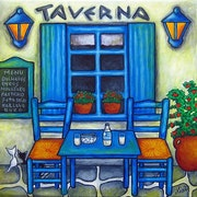 Table for Two - Greek Taverna.
