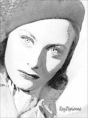 Michèle Morgan. Raymond Marcel Depienne