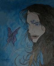 La demoiselle aux papillons.. Anne. B