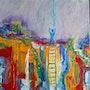 Passerelles / Bridges / détail canvas n°1. Catherine Husenau