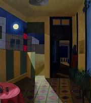 Casa con luna. Hugo Jose Marti