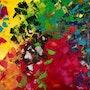 «Everest» tableau art abstrait moderne et contemporain sur toile 60x80.