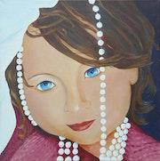 Petite fille aux yeux bleu. Arlette Marqueyrol