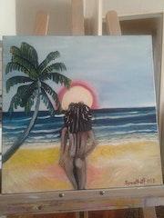 Frau am Strand. Sprathoff