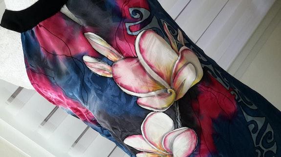 Robe en soie peinte. Christine David Chrissoie