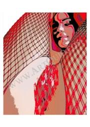 «Carla aux résilles rouges» v2.