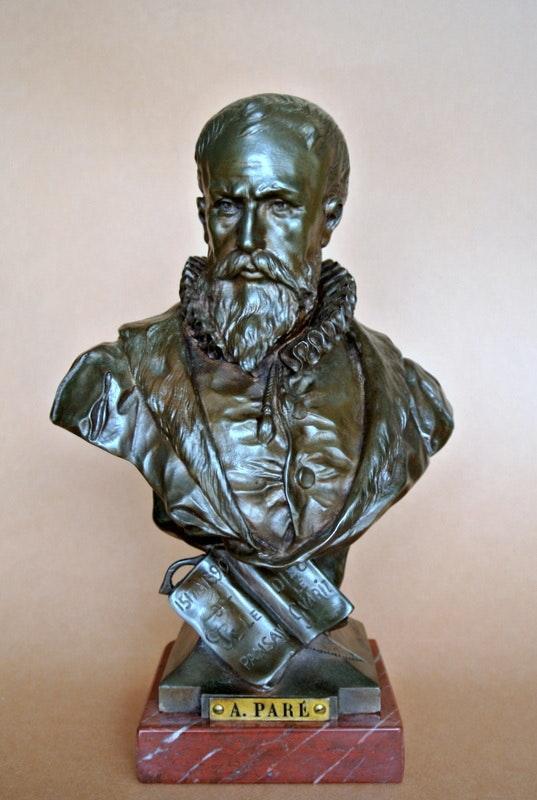 Buste d'Ambroise Paré. Emile Picault Marc Menzoyan Antiquités