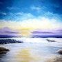 Atardecer en el Mar. Diana Tovar De Miramare