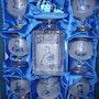 Tres beau service a cognac napoleon en cristal de bohème taillé main. Golden Century Europe
