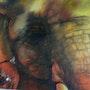 Baby Elephant - The African Savannah. Seahorseart
